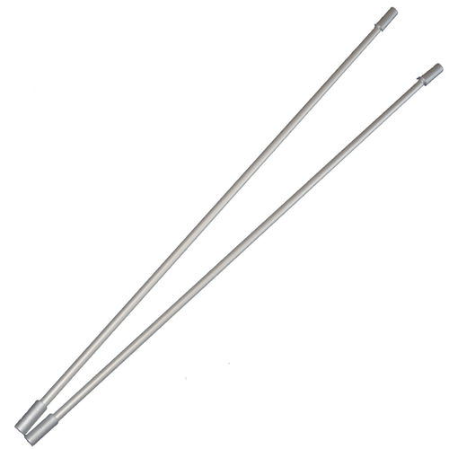 Metall-Look Poles 2er-Set 95 cm