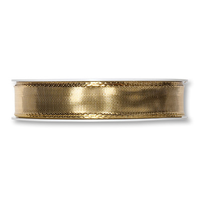 Lamé-Band 15mm x 25m gold metallic