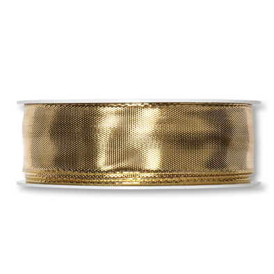 Lamé-Band 25mm x 25m gold metallic