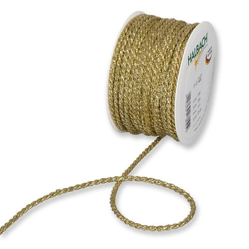 Lurexkordel 4mm x 25m gold metallic