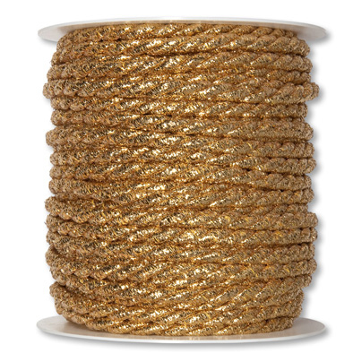 Lurexkordel 6mm x 25m gold metallic